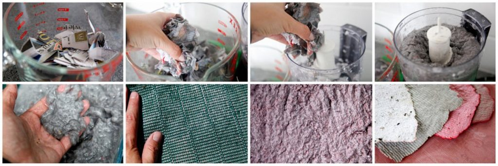 Making DIY recycled seed paper