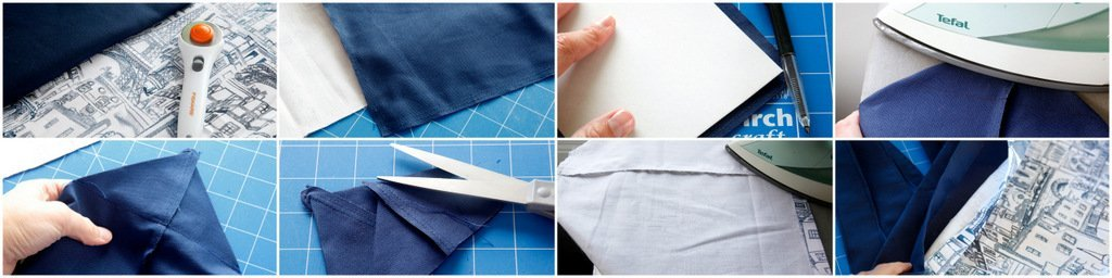 Sewing a reusable fabric shopping tote bag with boxed corners