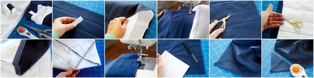 Sewing a reusable insulated fabric shopping tote bag