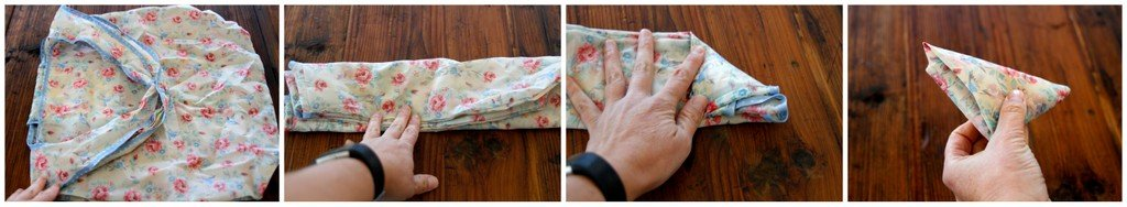Folding lightweight fabric shopping bags for easy storage and use