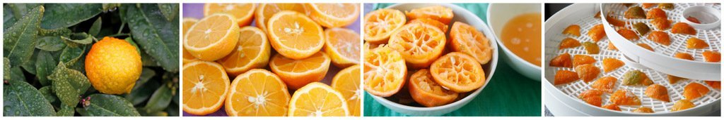 Dehydrating orange peels