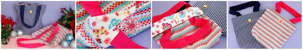 DIY reusable fabric tote bags for kids