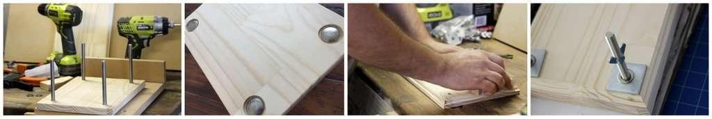 Making a wooden flower press
