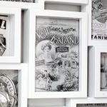 Using vintage post cards and advertisements to make DIY custom wall art