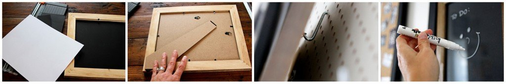 DIY dry erase board from repurposed picture frame