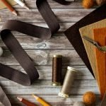 Autumn coloured craft supplies