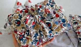 DIY reusable fabric gift wrap and ribbons