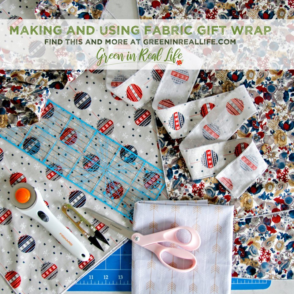 How to make and use fabric gift wrap