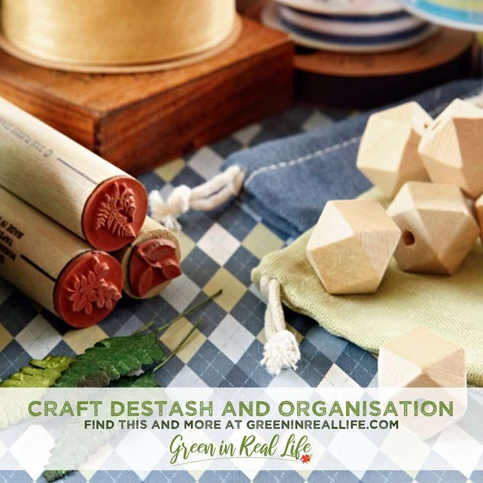Clutter Busting Craft Supply Destash and Organisation