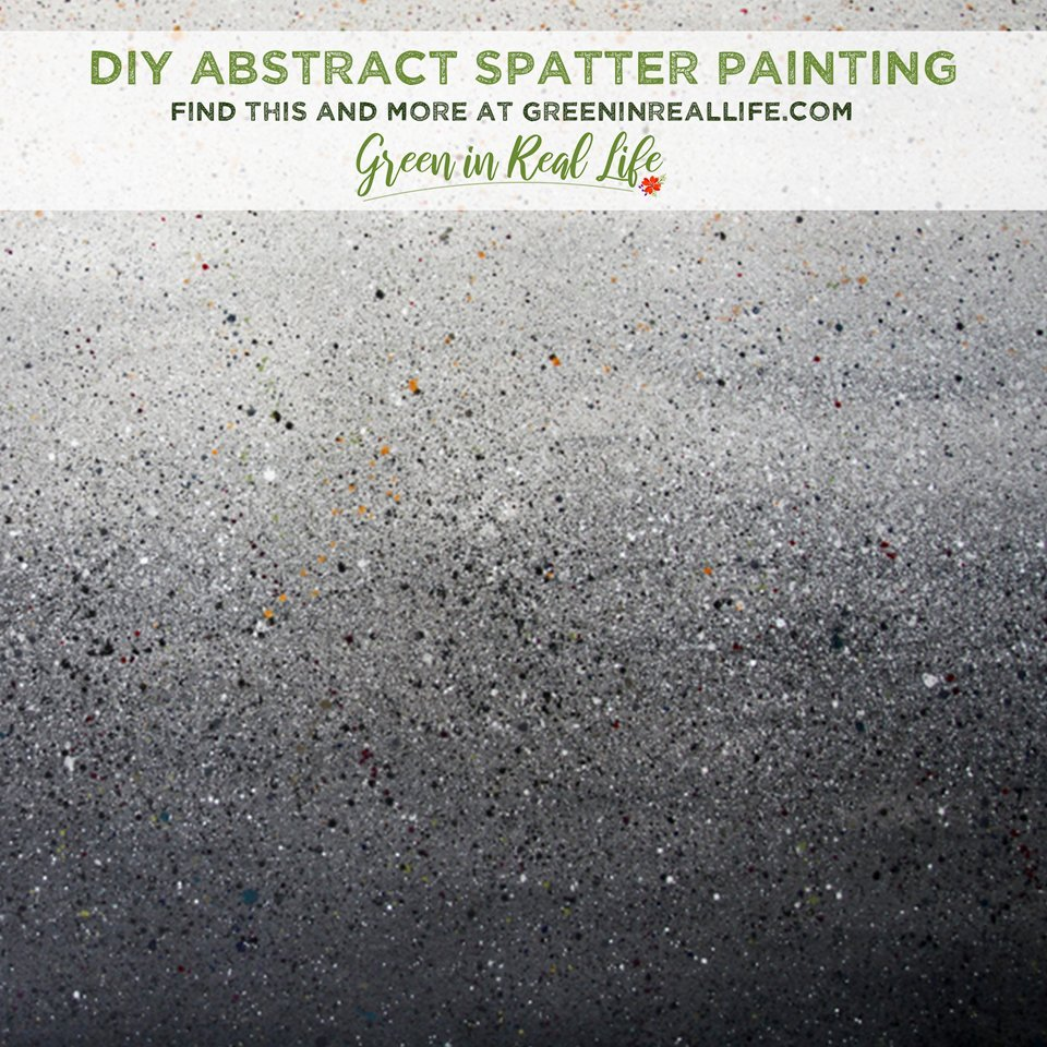 DIY Abstract Art Spatter Painting