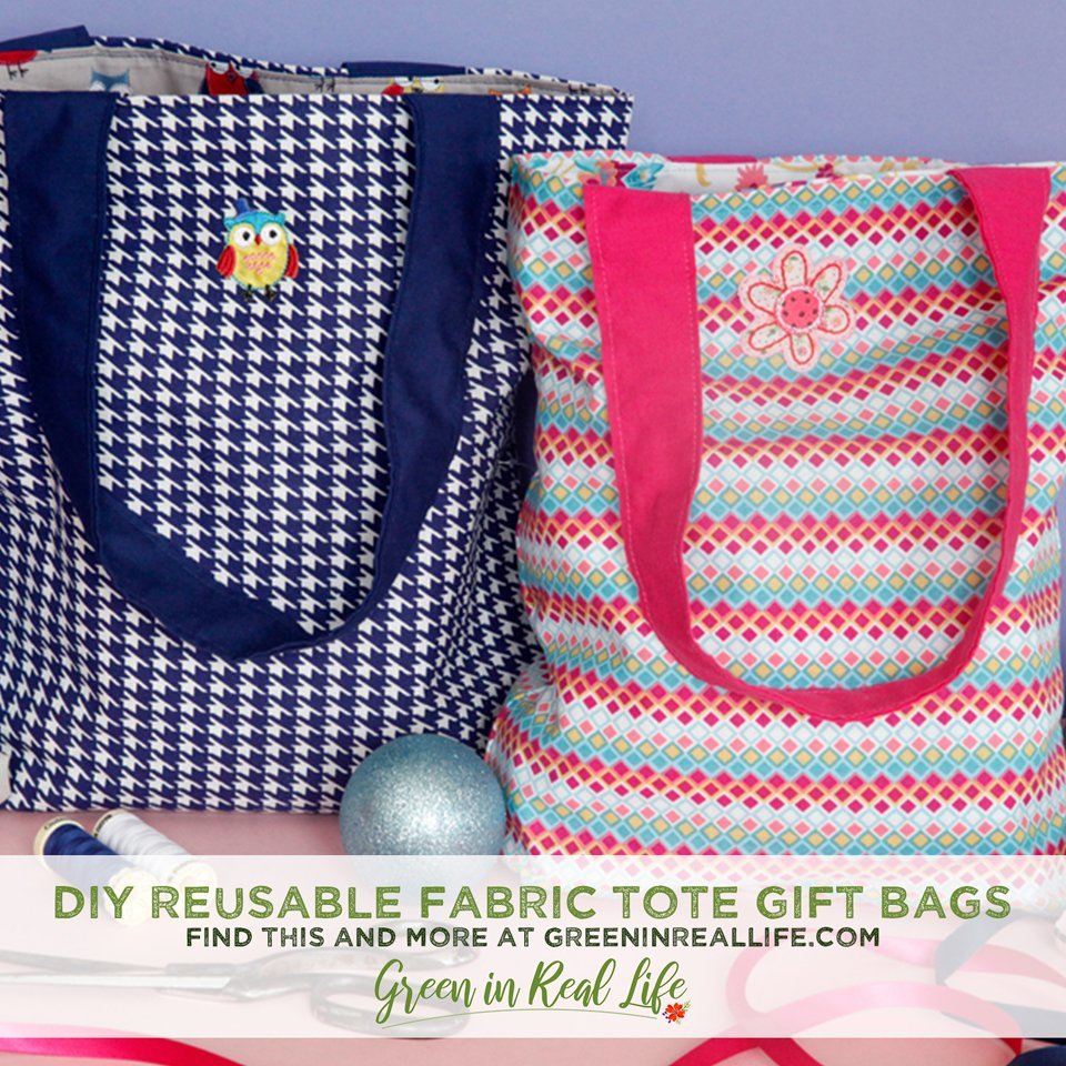 DIY Reusable Children's Fabric Tote Gift Bags