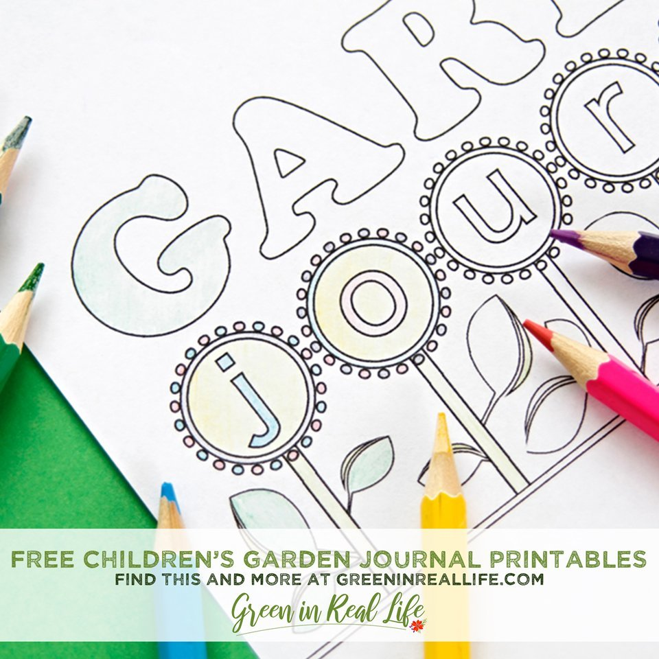 Free Children's Garden Journal Activity Sheets