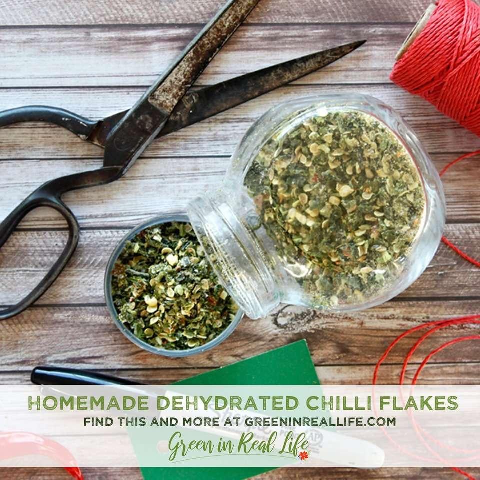 Homemade Dehydrated Chilli Seasoning