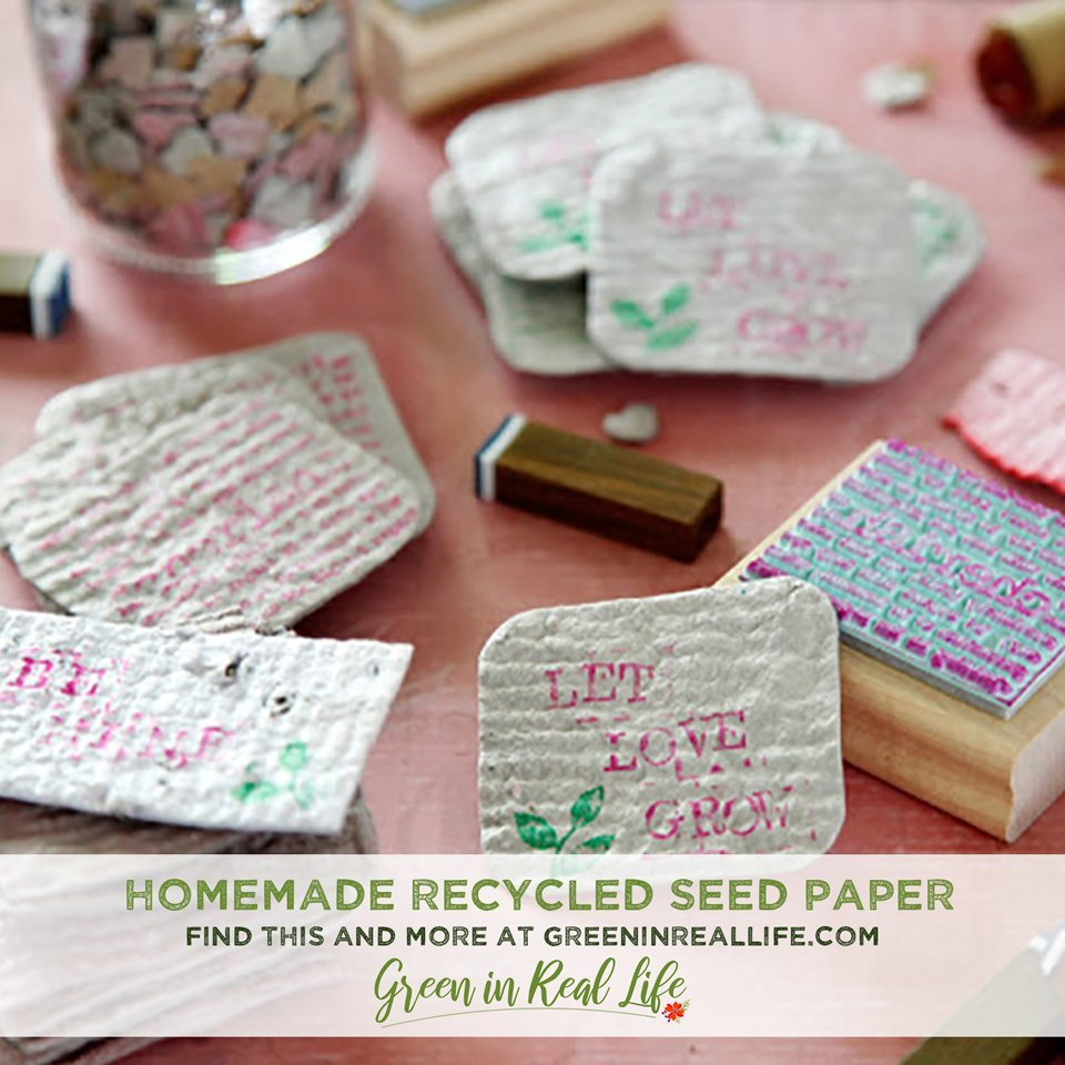 DIY Recycled Seed Paper and Homemade Valentines