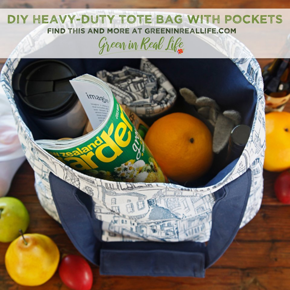 How to Sew a Heavy-Duty Tote with Pockets