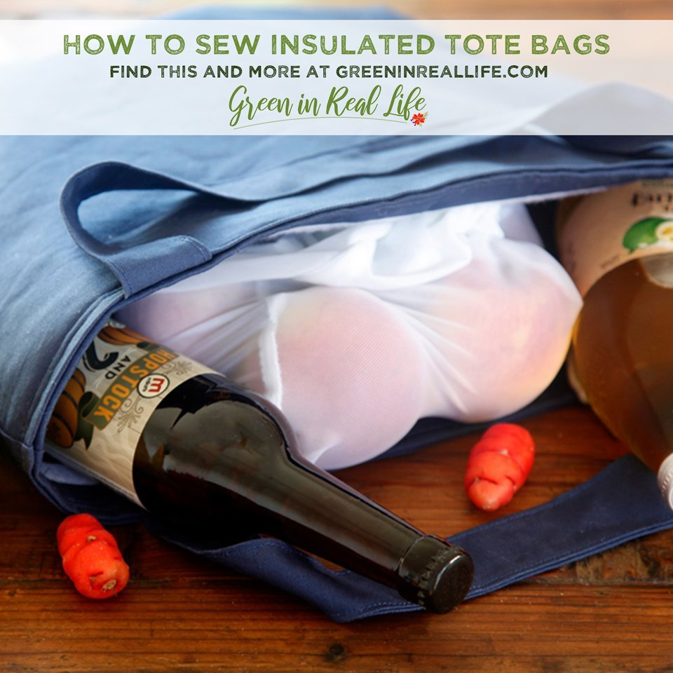 How to Sew an Insulated Grocery/Picnic Tote Bag