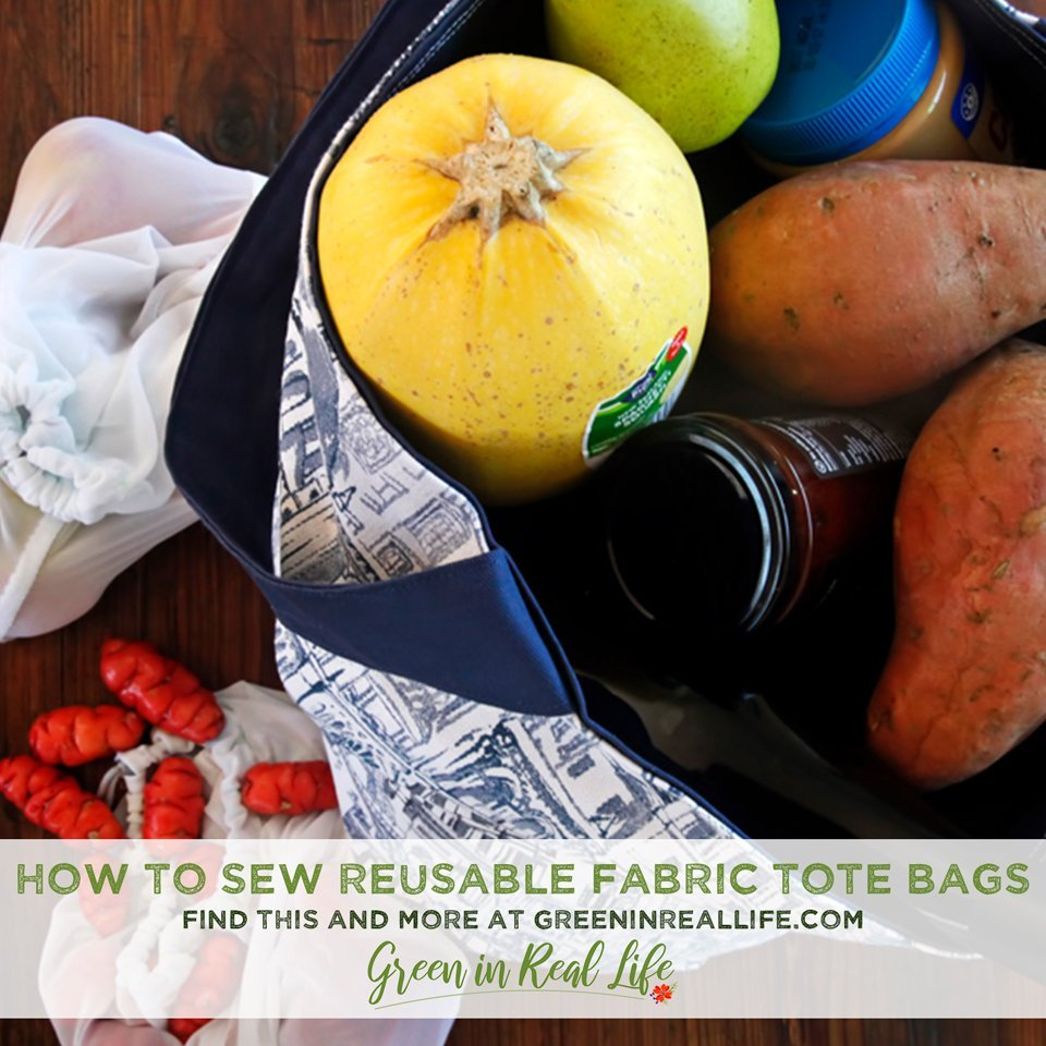 How to Sew a Reusable Fabric Grocery/Tote Bag