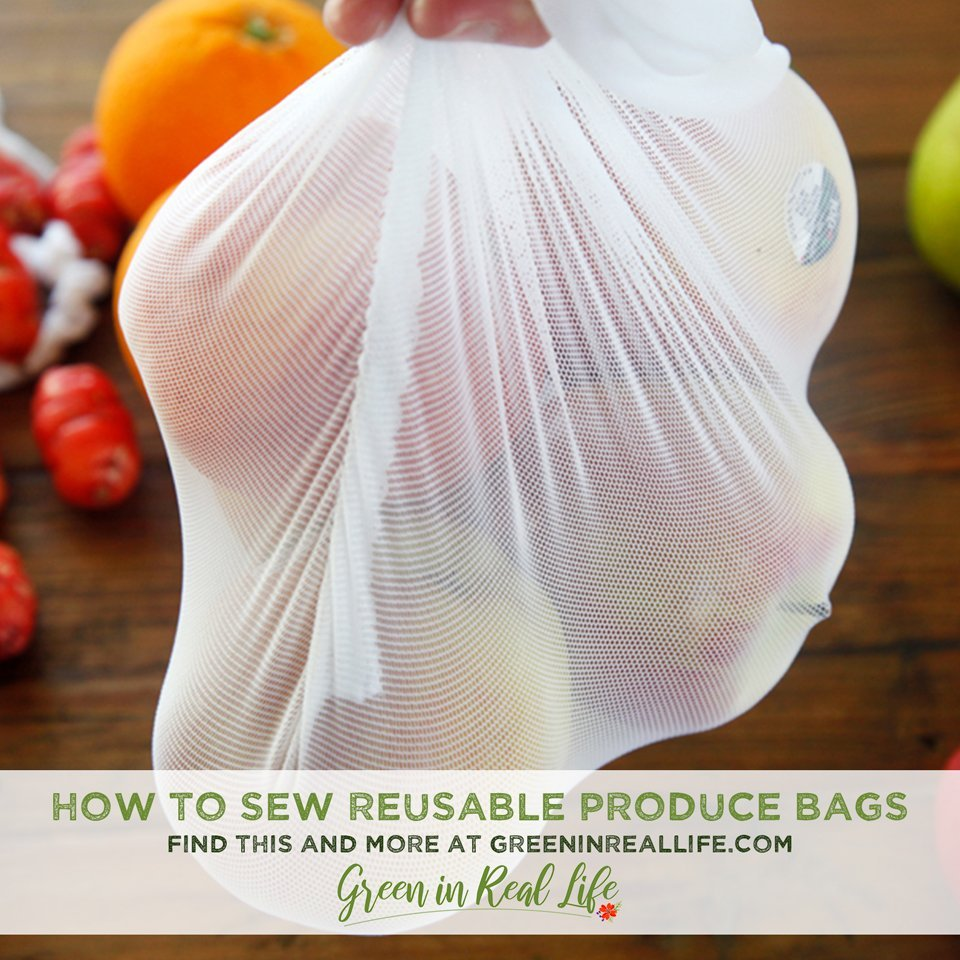 How to Sew Reusable Mesh Produce Bags
