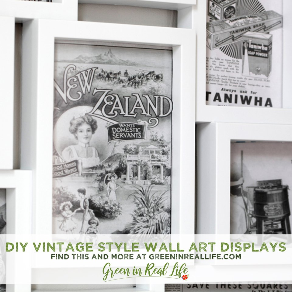 Using Postcards and Vintage Prints to Create Wall Art