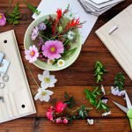 DIY wooden flower press with carriage bolts