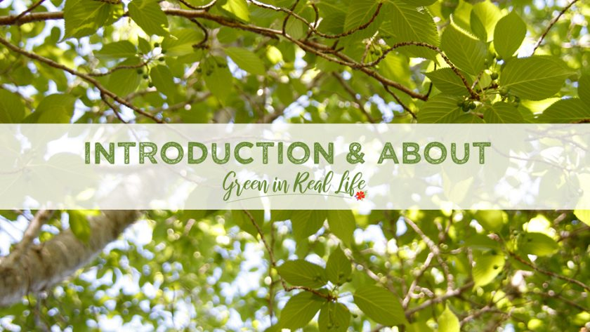 Introduction and About the Green in Real Life Blog - Page Header