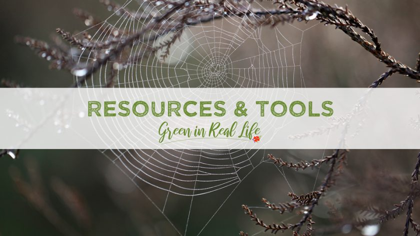 Tools and Resources Green in Real Life Blog - Page Header